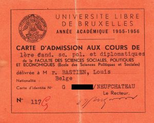 Louis Bastien ULB 55-56 Cours